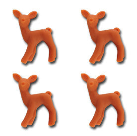 Oh Deer Resin Charms - Sunset Orange