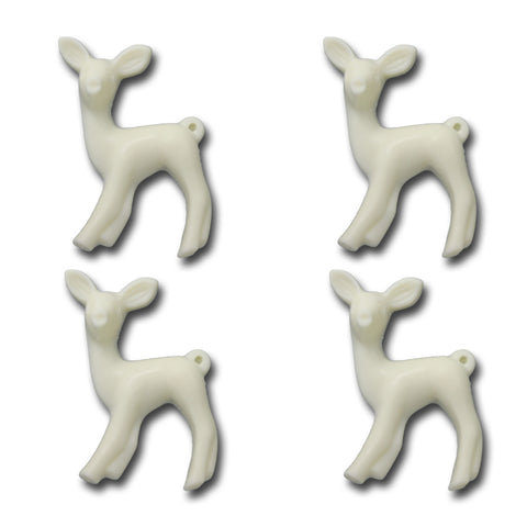 Oh Deer Resin Charms - Cream
