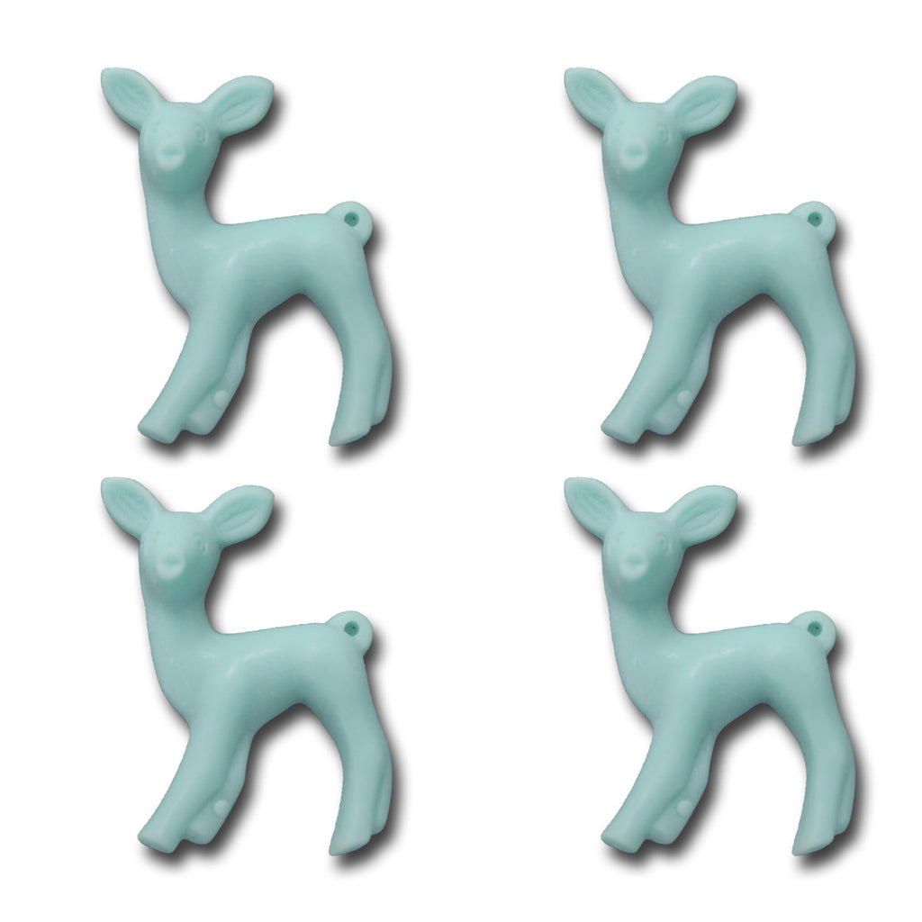 Oh Deer Resin Charms - Sky Blue