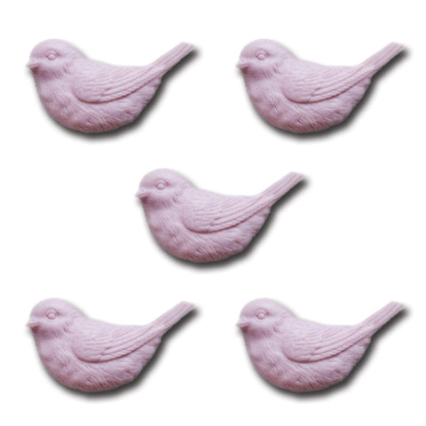 Resin Nesting Birds - Porcelain Pink