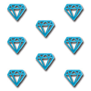 Resin Diamonds - Tempting Teal
