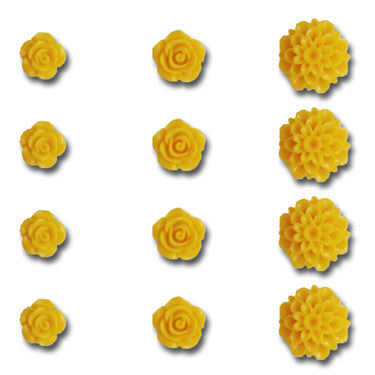 Resin Flower Set - Sunshine Yellow