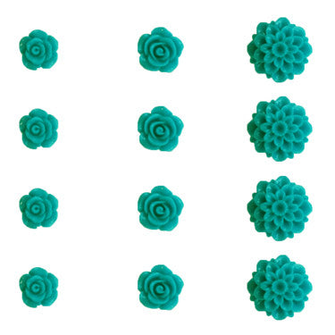 Resin Flower Set - Tempting Teal