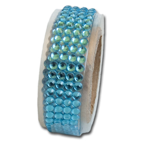 Self-Adhesive Rhinestone Trim - Sea Blue