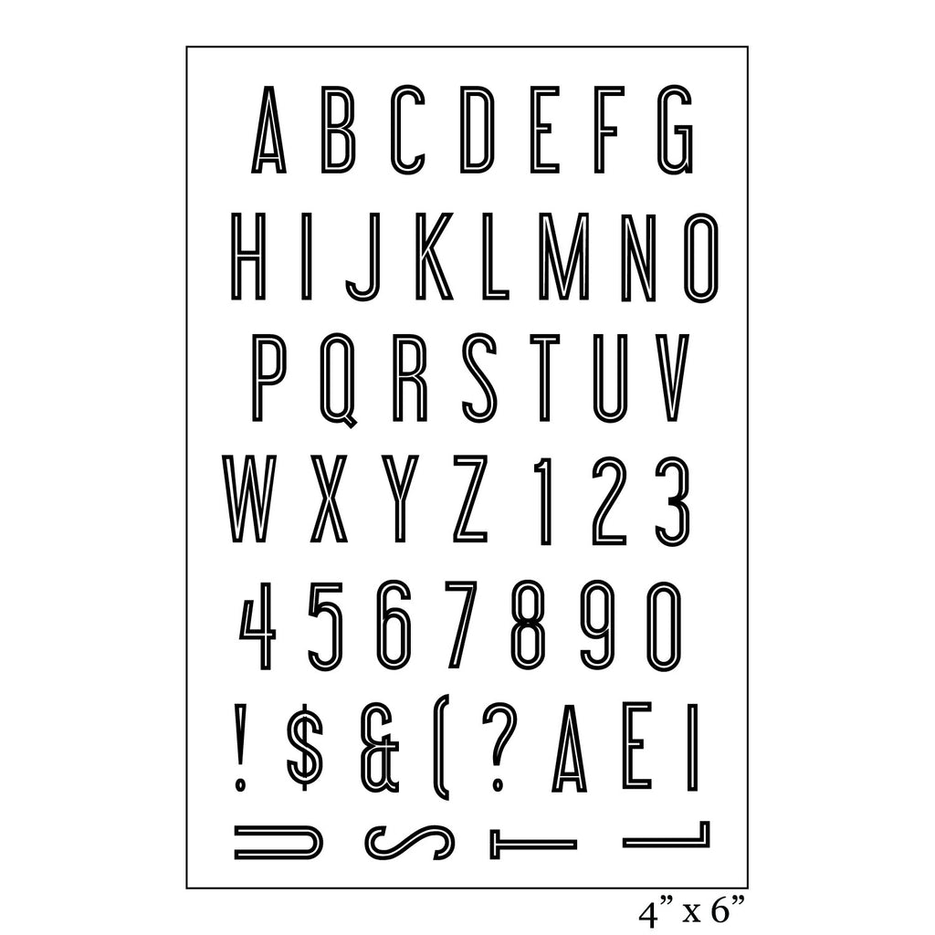 Metro UC Alphabet Stamp Set