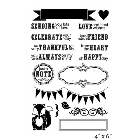 Banner Sentiments Stamp Set