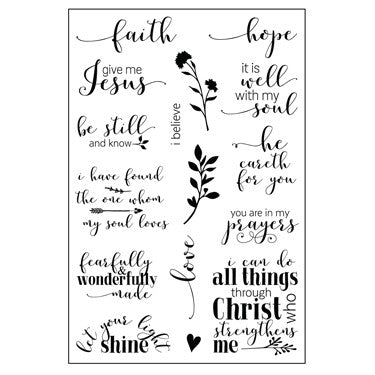 Hope &  Faith Stamp Set