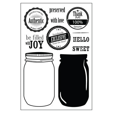 Mason Jar Stamp Set