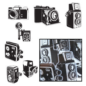 Say Cheese Camera Transparencies - Black - Bulk