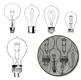 Eureka Light Bulb Transparencies - Black - Bulk