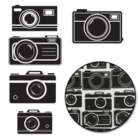 Picture Perfect Camera Transparencies - Black - Bulk