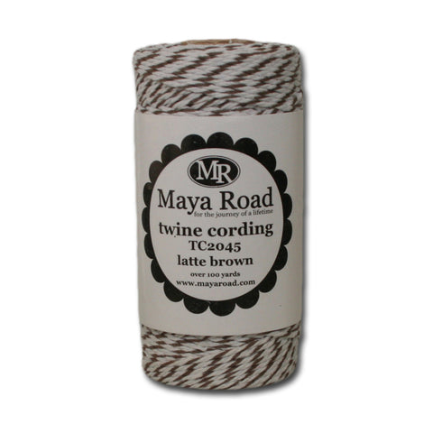 Twine Cording - Latte Brown