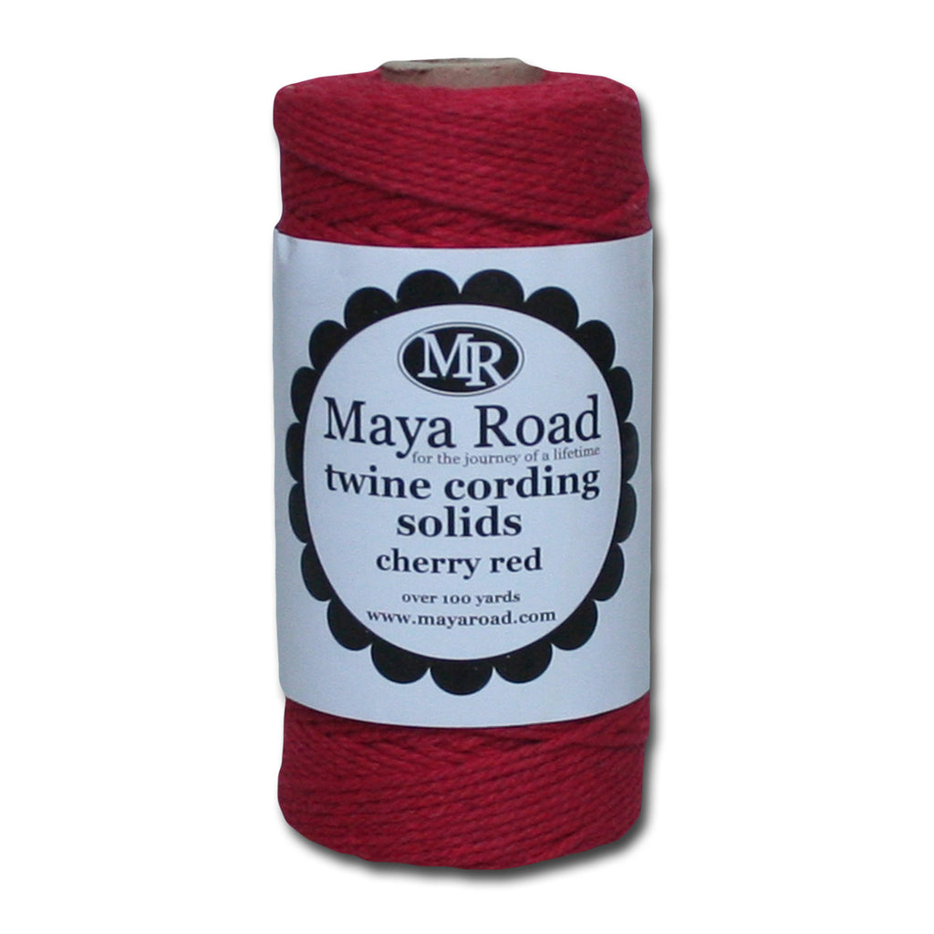 Twine Cording Solids - Cherry Red