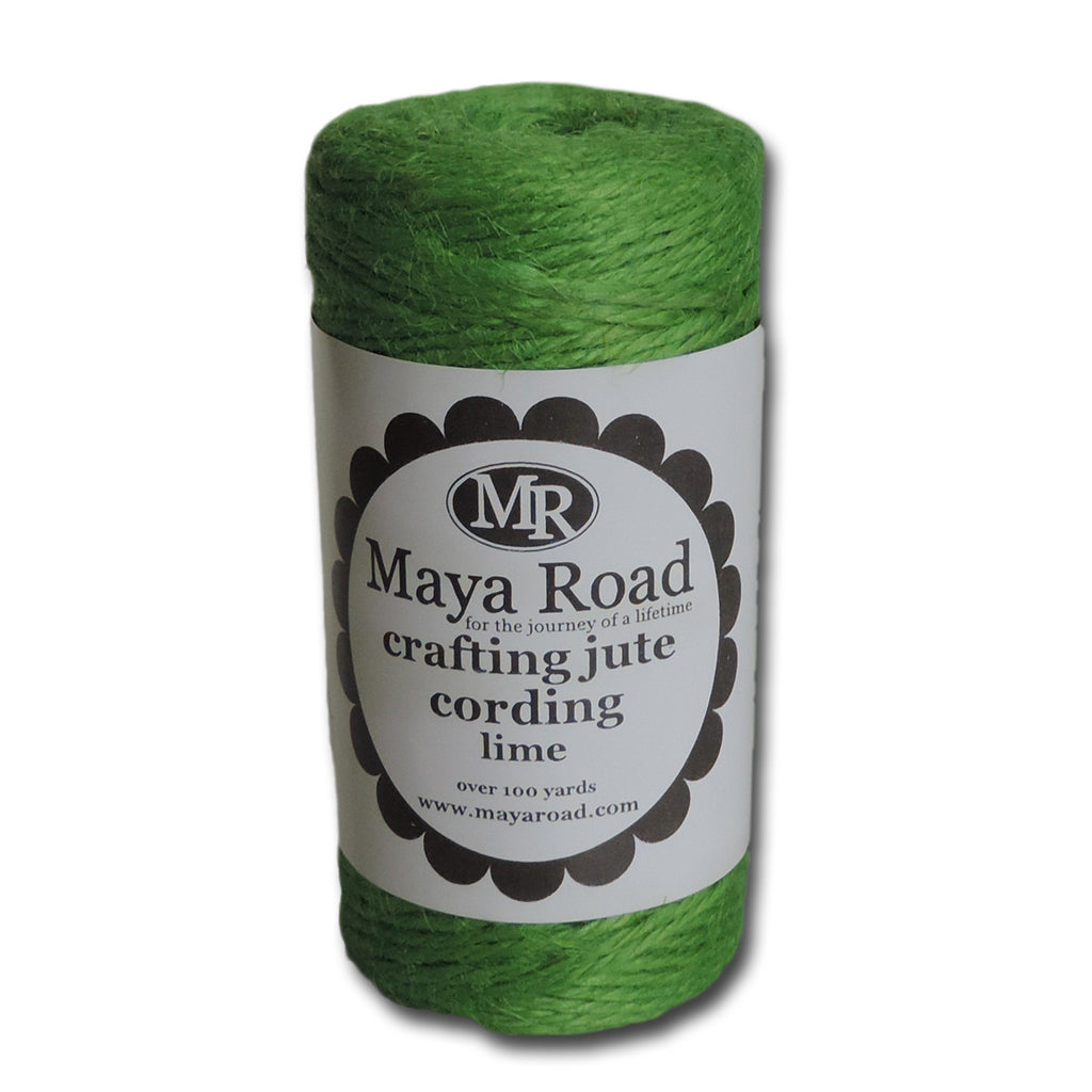 Crafting Jute Cording - Lime
