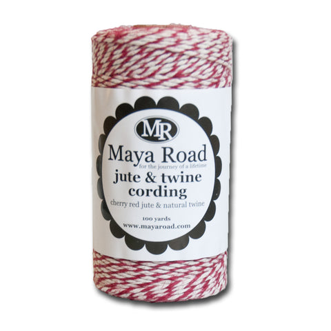 Cherry Red Jute & Twine Cording