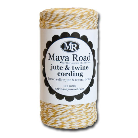 Lemon Yellow Jute & Twine Cording