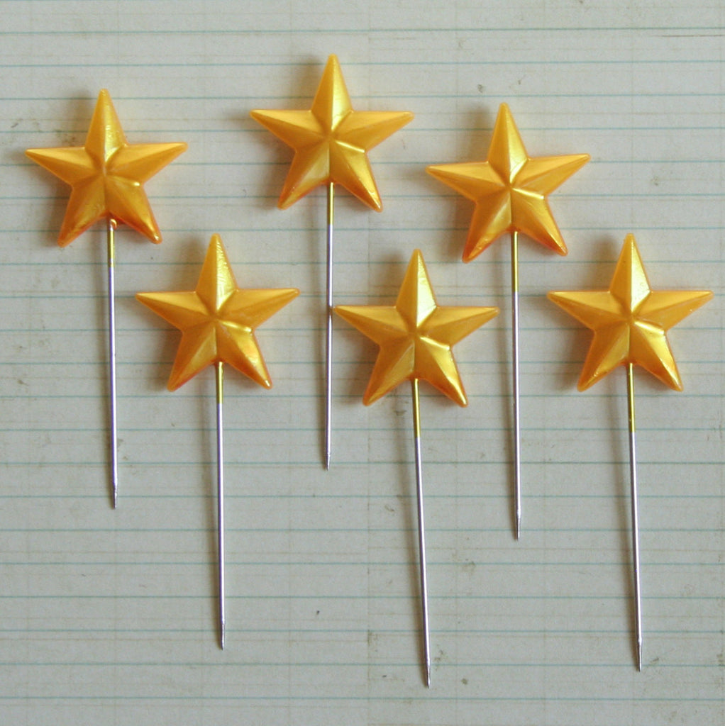 Super Star Pins - Gold - Bulk