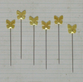 Vintage Butterfly Pins - Champagne Pearl