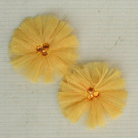 Tu-Tu Tulle Flowers - Canary Yellow
