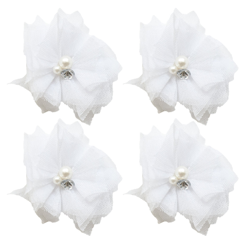 Tulle Mini Blooms - Milk White