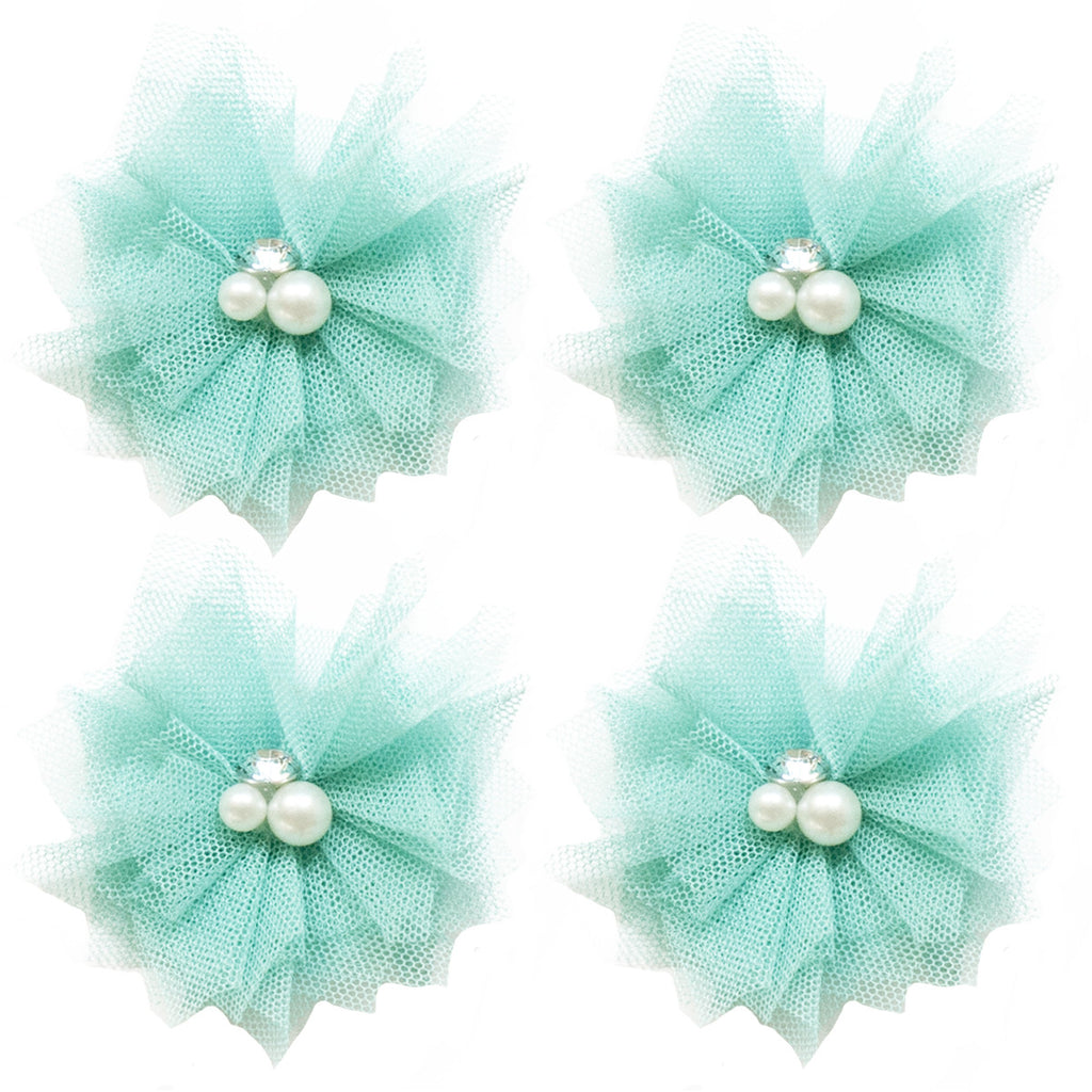 Tulle Mini Blooms - Teal