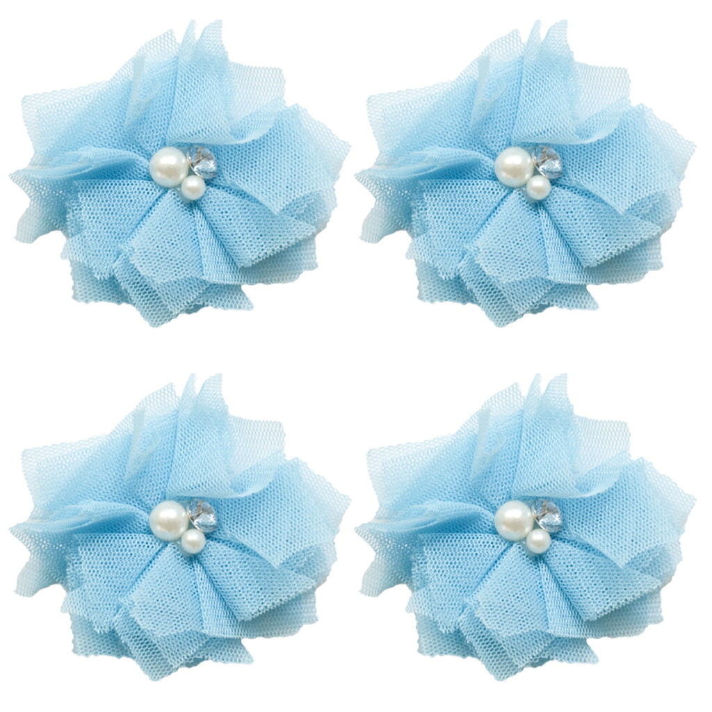 Tulle Mini Blooms - Bluebird