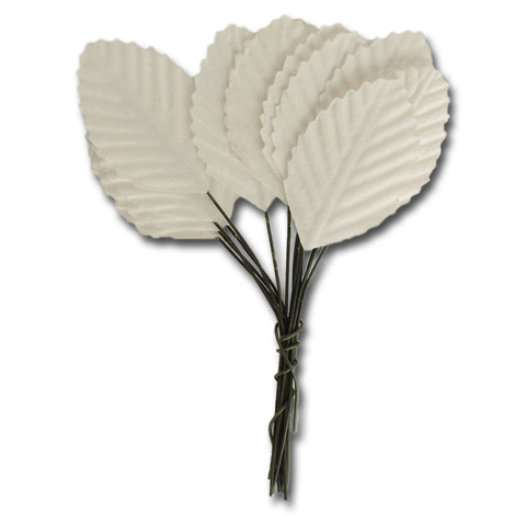 Ken Oliver Vintage Paper Leaves - White