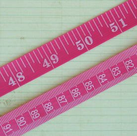 Vintage Tape Measure Trim - Rose Pink