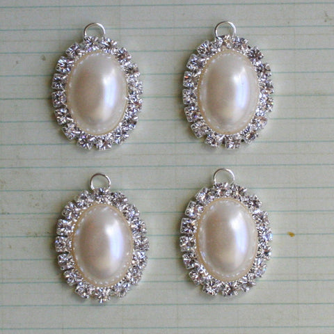Antique Jeweled Pearl Pendant