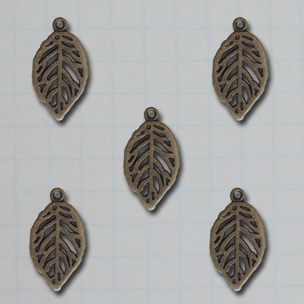 Mini Leaf Charms