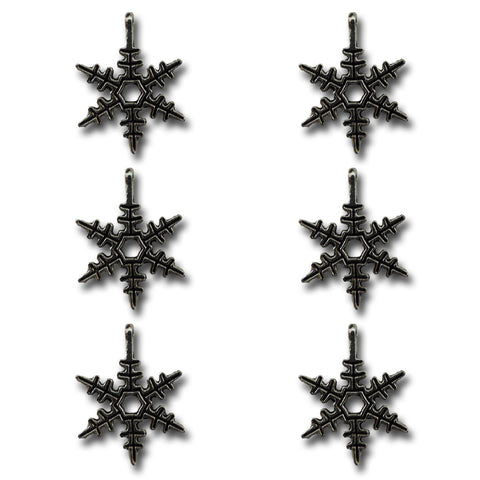 Silver Bells Snowflake Charms