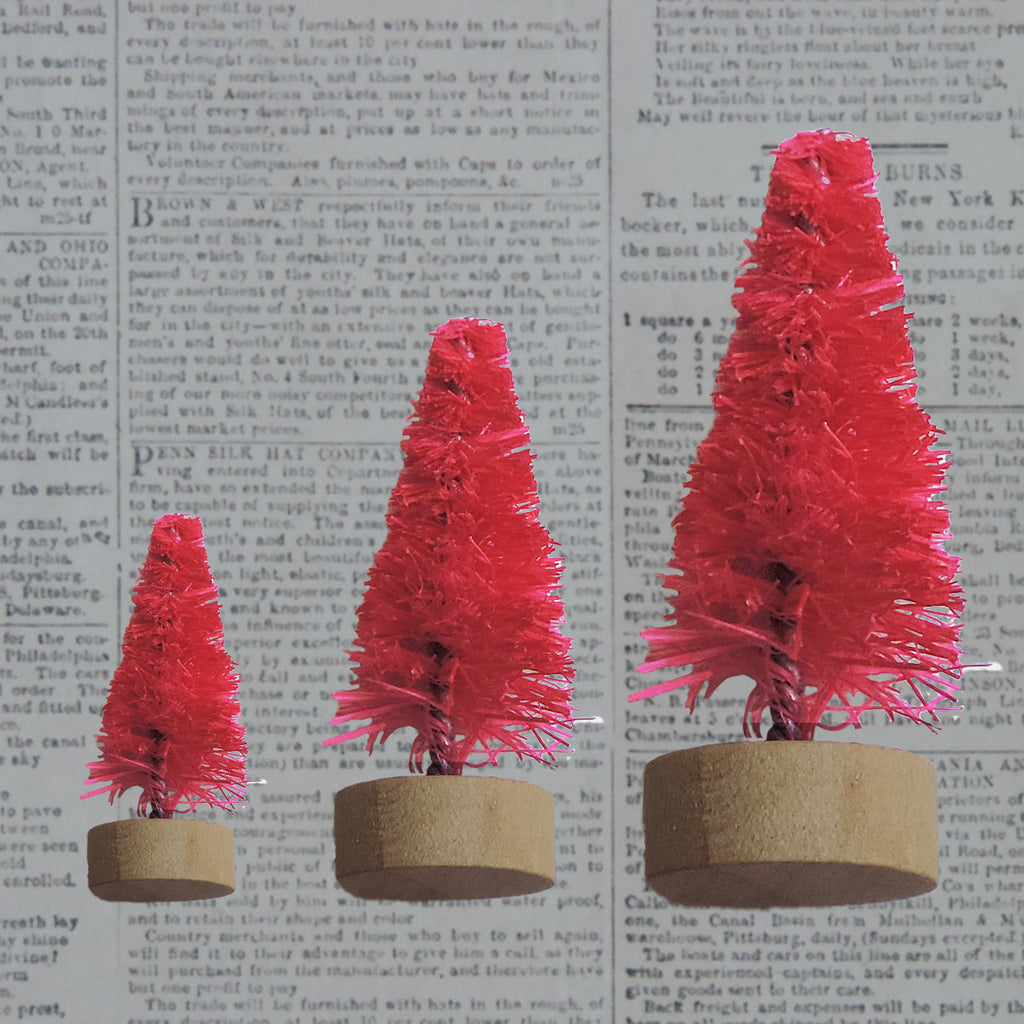 Bottle Brush Trees - Hot Pink