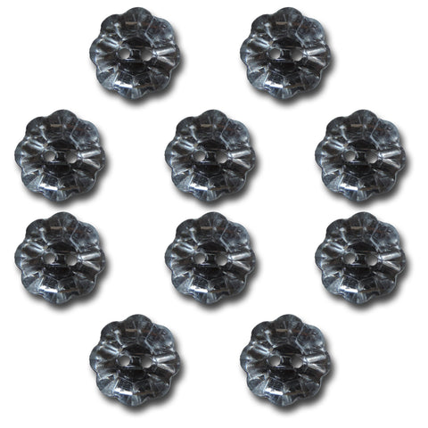 Crystal Flower Buttons
