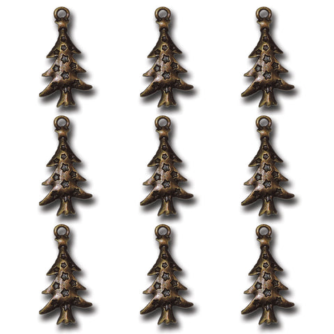 Bronze Christmas Tree Charms