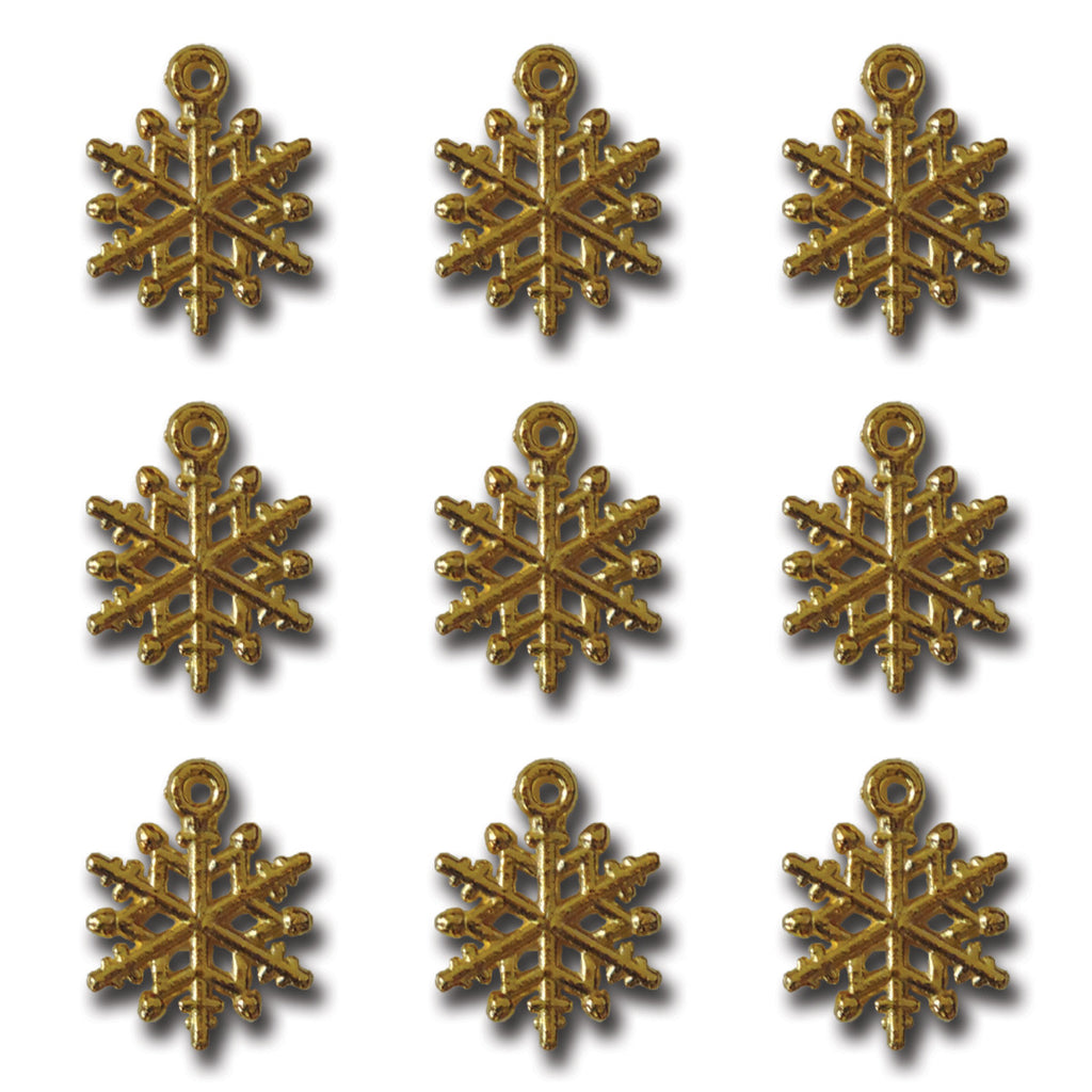 Golden Ice Crystal Charms