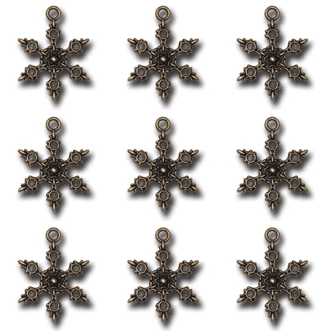 Bronze Frozen Snow Charms