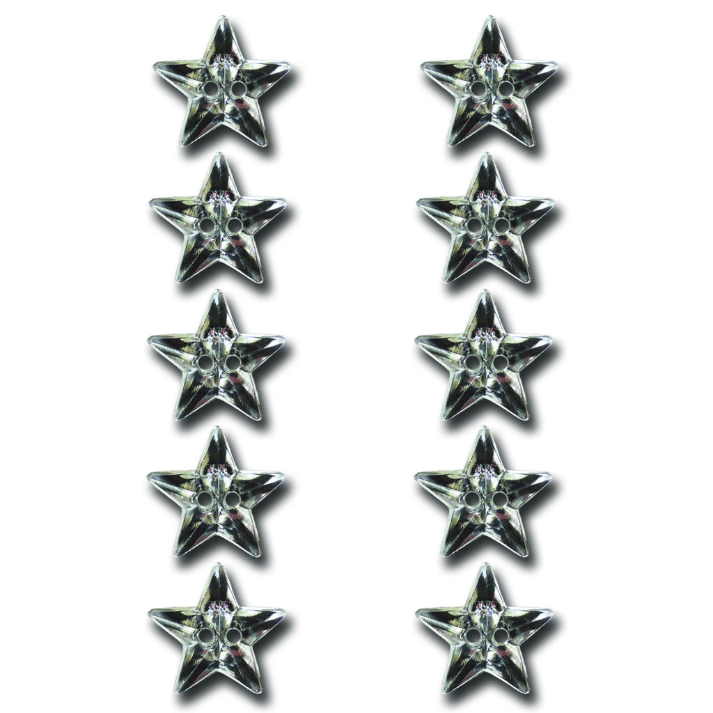 Crystal Star Buttons