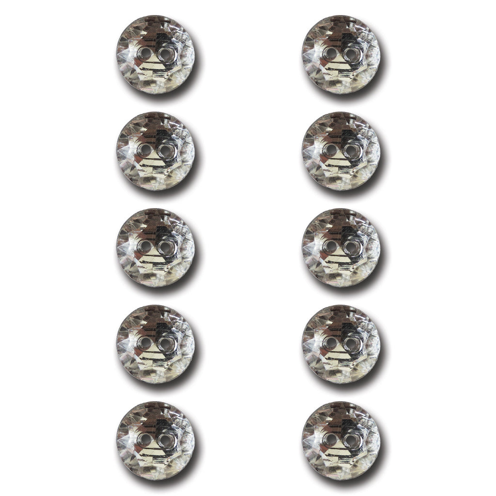 Crystal Circle Buttons