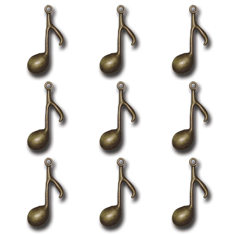 Bronze Music Note Charms