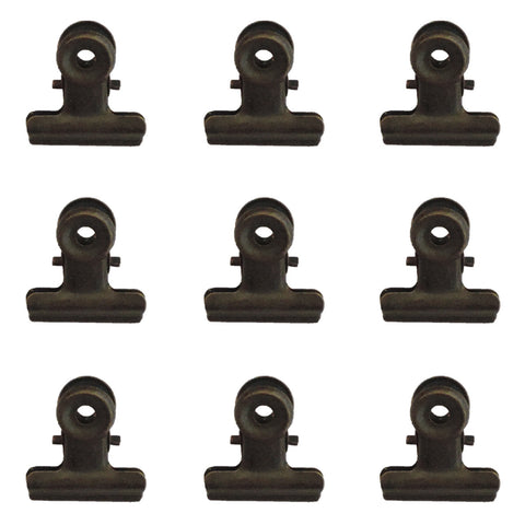 22mm Bulldog Clips - Bronze - Bulk