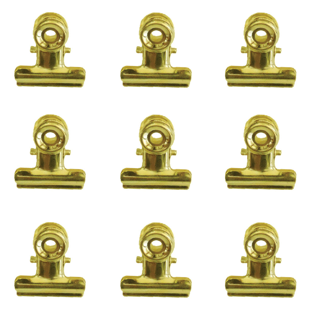 22mm Bulldog Clips - Gold - Bulk