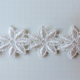 Mini Mums Vintage Lace Trim - Cloud
