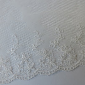 Scalloped Lace Edge Trim - Cloud