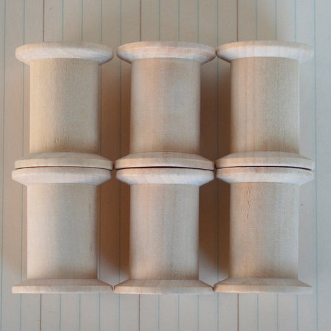 Vintage Wood Sewing Spools - Bulk (100 pcs)