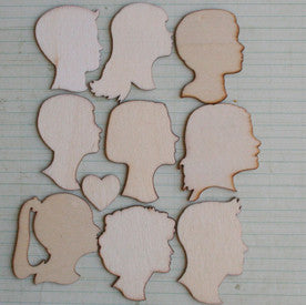 Wood Love Portraits Embellishments - Bulk