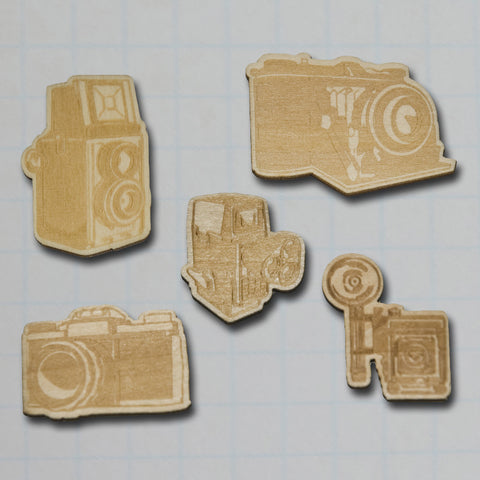 Vintage Wood Camera Pieces - Bulk