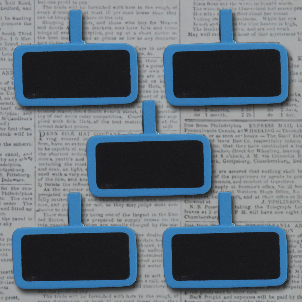 Wood Mini Chalkboard Clips - Blue Bird
