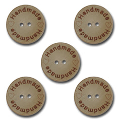 """Handmade"" Wood Buttons"