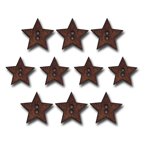 Stained Wood Star Buttons