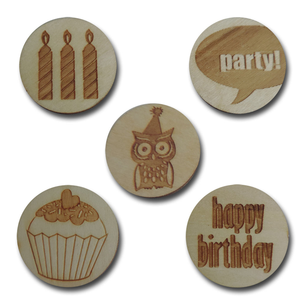 Wood Birthday Tokens
